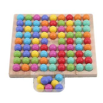Barn Leker Pedagogisk Montessori Farge Sortering Tre Leker Klipp Perler Matte Leketøy Spill