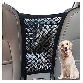 Dykeson Dog Car Net Barrier Pet Barrier With Auto Safety Mesh Organizer Baby Stretchable Storage Bag Universal For Cars, Suvs -easy Install, Car Divid