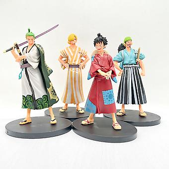 Cartoon Dolls, Cartoon Characters In Kimonos, A Set Of Pvc Action Figures Series Model Toys
