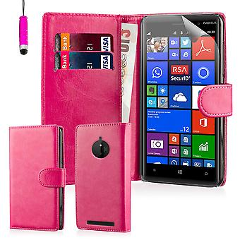 Wallet Hülle für Nokia Lumia 830 + Stift - Hot Pink