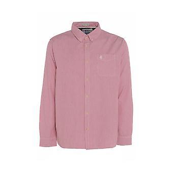Miesten vaaleanpunainen raidallinen paita Pocket TP563-L