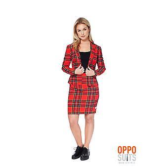 Lumberjackie Mesdames costume Opposuit Noël Slimline 2 prime UE tailles