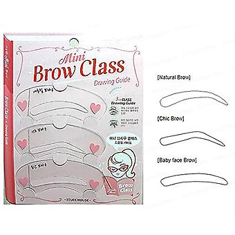 3pcs Mini Brow Class Drawing Guide Eyebrow Card Shaper Template Stencils