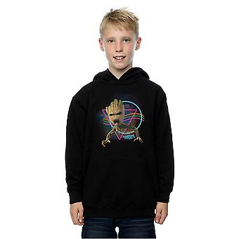 Marvel Boys Guardians Of The Galaxy Neon Groot Hoodie