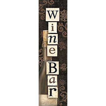 Wine Bar Poster Print by Annie LaPoint (8 x 30)