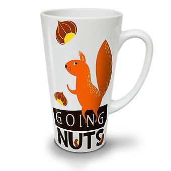 Going Nuts Squirrel NEW White Tea Coffee Ceramic Latte Mug 17 oz | Wellcoda