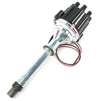 Pertronix D200800 Flame-Thrower Black Cap Plug and Play Marine Billet Electronic Distributor with Ignitor II Technology