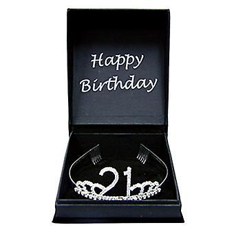 Feliz aniversário Diamante Tiara w / caixa de presente