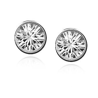 Womens Small Crystal Stud Earrings Jewellery Clear