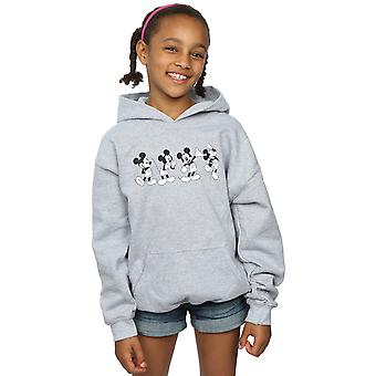 Disney Girls Mickey Mouse Four Emotions Hoodie