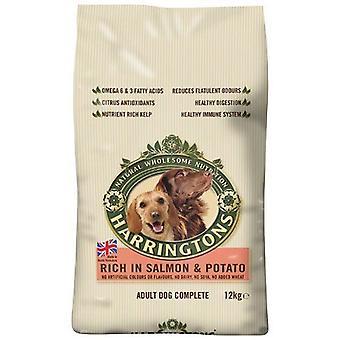 Harringtons Hund Trockenfutter komplett reich an Lachs und Kartoffeln 12kg