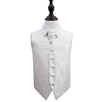 Ivory Paisley bröllop väst & Cravat Set för pojkar