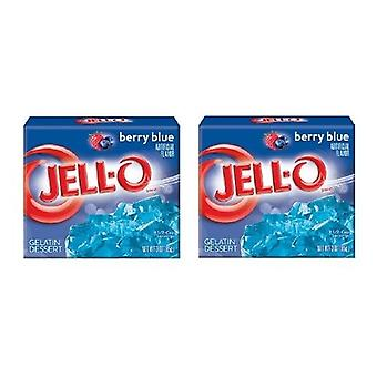 Jell-O Berry Blue gelatină desert Mix 2 Box Pack
