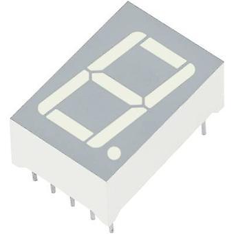 Afficheur 7 segments Kingbright jaune 14,2 mm 1.95 n ° V des chiffres: 1 SC56-11SYKWA