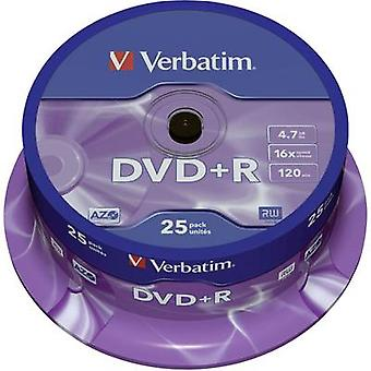 Verbatim 43500 Blank DVD+R 4.7 GB 25 pc(s) Spindle