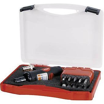 RUKO Pneumatic sander 1/4 (6.3 mm) 6.2 bar incl. accessories, incl. case