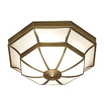 Interiors 1900 Balfour Traditional Style Bronze Tiffany Ceiling Lamp