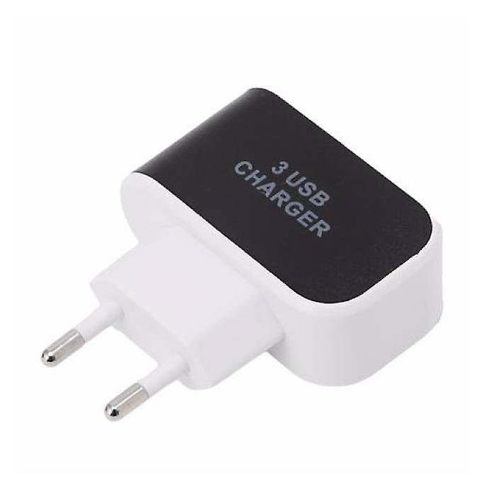 Stuff Certified ® Triple (3x) USB Port iPhone / Android 5V - 3.1A Wall Charger Wall Charger Black