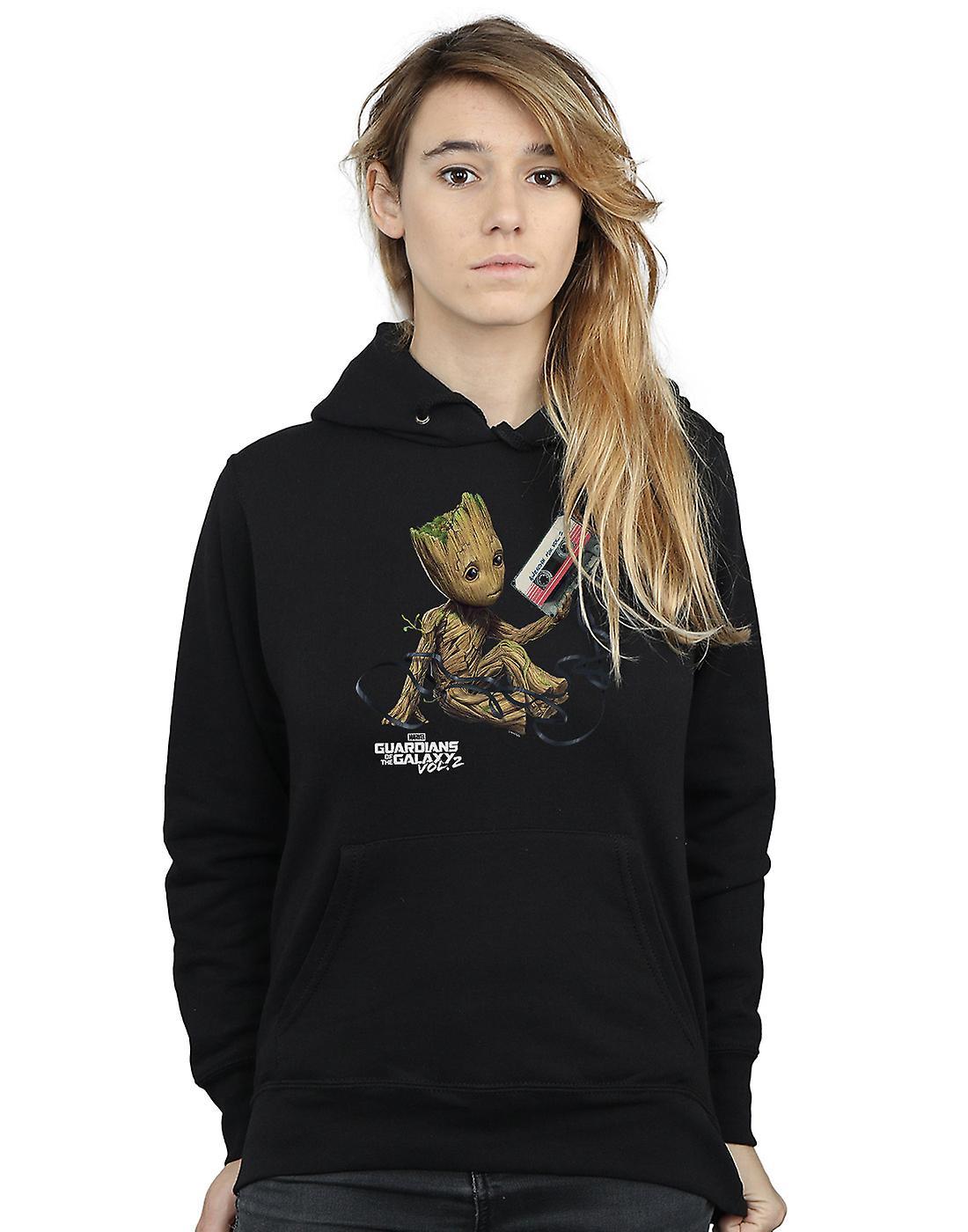 Marvel Women's Guardians Of The Galaxy Groot Tape Hoodie