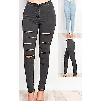 IKRUSH Womens Alisiah Ripped Skinny Jeans