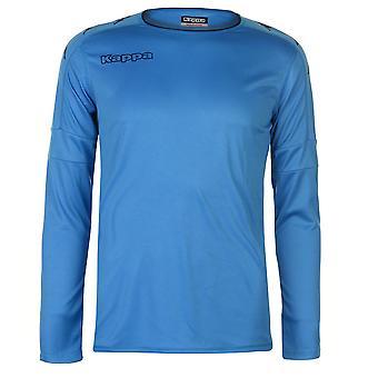 Kappa Mens Santos Long Sleeve Top Crew Neck Shirt Round Colour Block Print