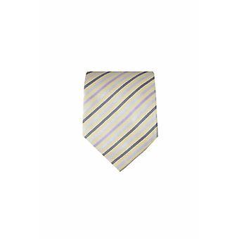 Yellow silk tie M23