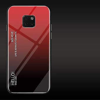 For Huawei mate 20 Pro color rainbow effect glass cover red case cover pouch