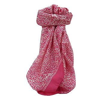 Mulberry Silk Contemporary Square sjaal Mila roze door Pashmina & Silk