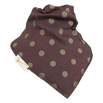 Brown & golden spots bandana bib