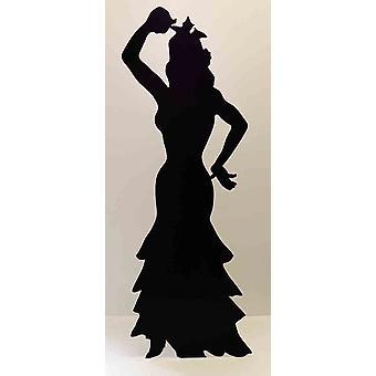 راقصة الفلامنكو (خيال) (الأحزاب Prop)-انقطاع الكرتون شمعي/الواقف