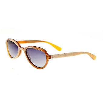Bertha Alexa Buffalo-Horn Polarized Sunglasses - Vanilla/Black