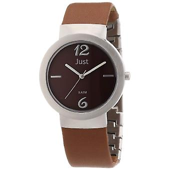 Just Watches 48-S4702-BR-wristwatch, leather, color: Brown