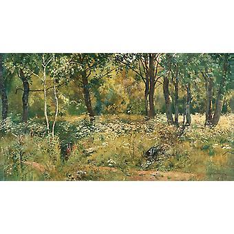 Het gazon in het bos, Ivan Shishkin, 60x33cm