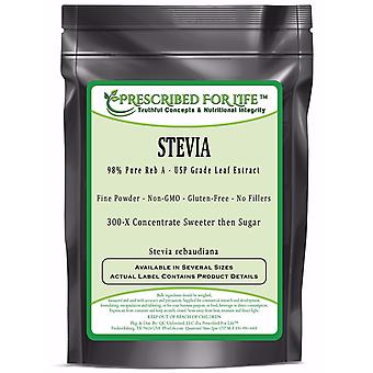 Stevia-98% Pure Reb A-Pharmaceutical Grade Leaf Extract (Stevia rebaudiana)-300-X Concentrate