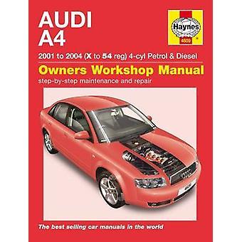 Audi A4 Service and Repair Manual - 01-04 - 9781785212901 Book