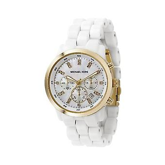 Michael Kors Ladies Ceramic Silicone Chronograph Watch Mk5218