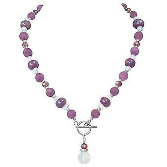 Eterna armonia collezione Orchidea Jade e ceramico di cristallo collana di perline