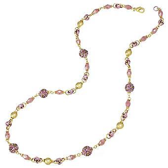 جمع الأبدية بيلينو الوردي مورانو قلادة الزجاج