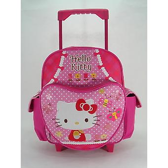 Small Rolling Backpack - Hello Kitty - Garden New School Book Bag 629885