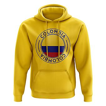 Colombia Football Badge Hoodie (Yellow)