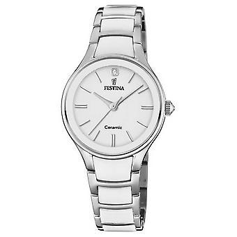 Festina   Womens Ceramic   Silver/White Bracelet   White Dial   F20474/1 Watch