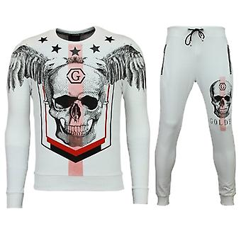 Tracksuits - Jogging Suit Online - Star Skull - White