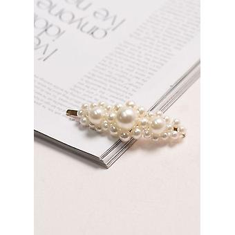 Faux Pearl Cluster Hair Slide Gold
