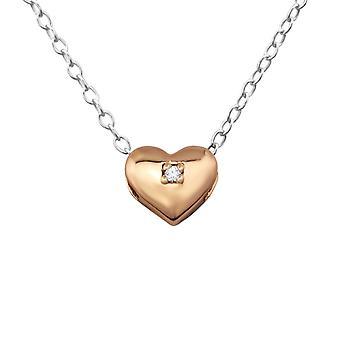 القلب - 925 فضة الاسترليني القلائد مرصع بالجواهر - W27794X