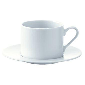 Lsa Dine cup of tea / coffee & saucer 0.25L x 4 Straight