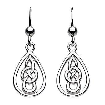 Heritage - Pure silver earrings - drip - motif: Celtic knot