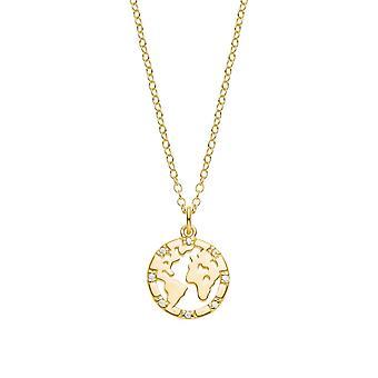 s. Oliver Jewel mulheres colar de ouro prata globo 2025616