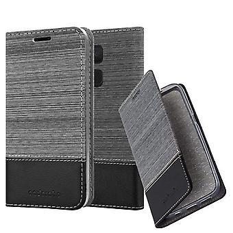 Cadorabo Hülle für BQ Aquaris V / Vs Plus Case Cover - Handyhülle mit Magnetverschluss, Standfunktion und Kartenfach – Case Cover Schutzhülle Etui Tasche Book Klapp Style
