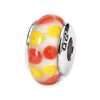 925 Sterling Silver Reflections Red White Murano Glass Bead Charm Pendant Necklace Jewelry Gifts for Women