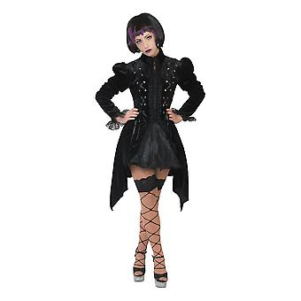 Costume gothique de veste femme Manteau D'Halloween Veste Grufti Costume femme